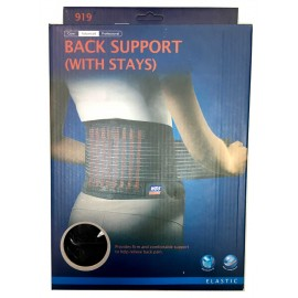 Back Support Belt - with stays (with acetal support)