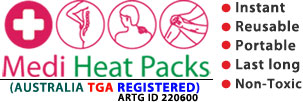 Medi Heat Packs, Instant Heat Packs, Reusable Heat Packs